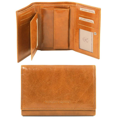 Exclusive Women's Leather Wallet Leather Wallet TUSCANY LEATHER Honey