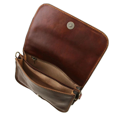 Carmen Leather Shoulder Bag Leather Clutch TUSCANY LEATHER