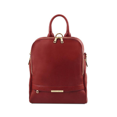 TL Women's Backpack Leather Backpack TUSCANY LEATHER Red