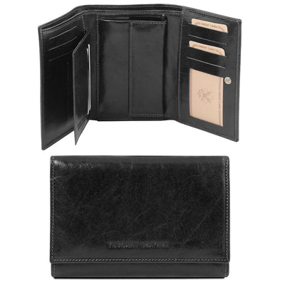 Exclusive Women's Leather Wallet Leather Wallet TUSCANY LEATHER Black