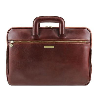 Caserta Document Case Leather Document Case TUSCANY LEATHER Brown
