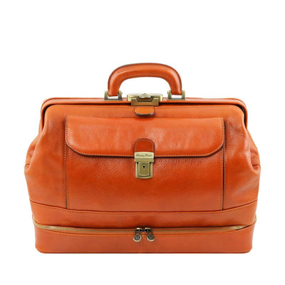 Giotto Leather Doctor Bag Leather Briefcase TUSCANY LEATHER Honey