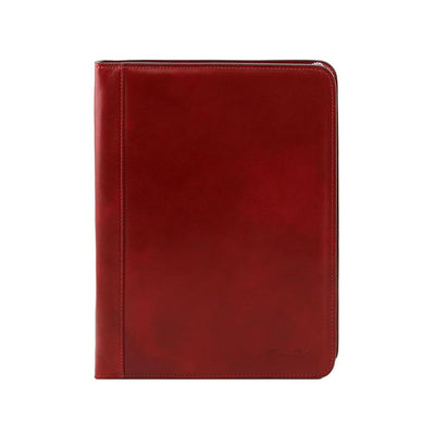 Ottavio Document Case Leather Document Case TUSCANY LEATHER Red
