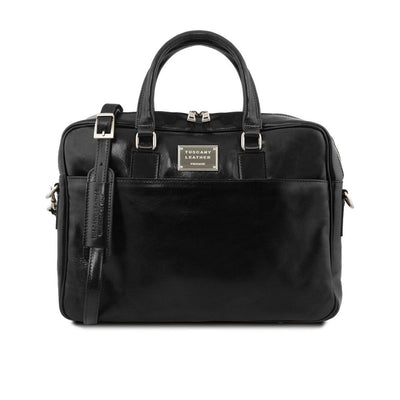 Urbino Laptop Bag Leather Laptop Bag TUSCANY LEATHER Black