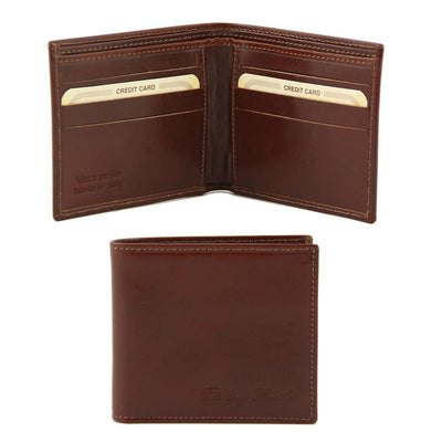 2 Fold Leather Wallet Leather wallet TUSCANY LEATHER Brown
