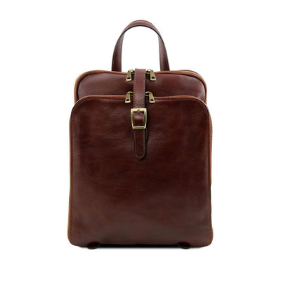 Taipei Leather Backpack Leather Backpack TUSCANY LEATHER Brown