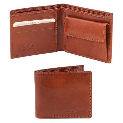 Exclusive 2 fold Leather Wallet Leather Wallet TUSCANY LEATHER Brown