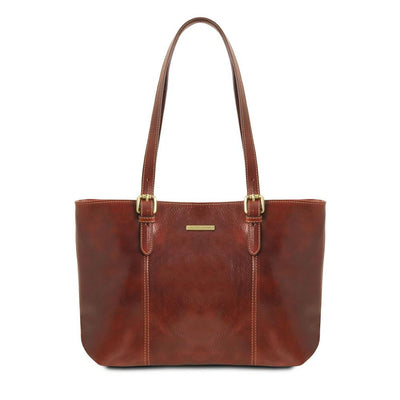 Annalisa Leather Handbag Leather Handbag TUSCANY LEATHER Brown