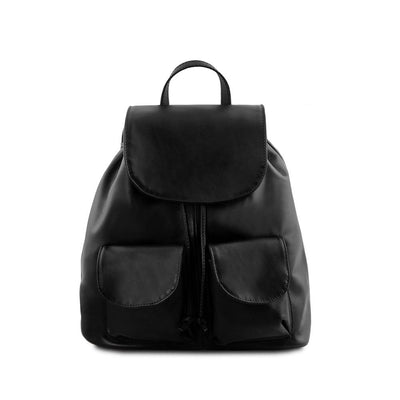 Seoul Leather Backpack Small/Large Leather Backpack TUSCANY LEATHER Small Black
