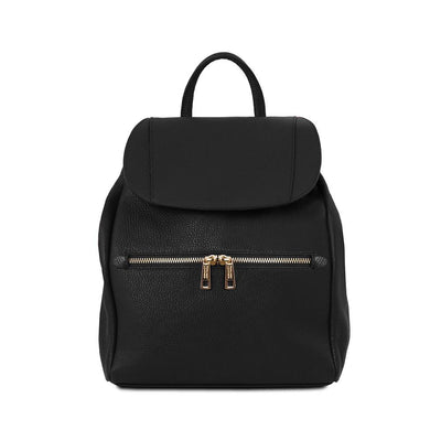 TL Explorer Backpack Leather Backpack TUSCANY LEATHER Black