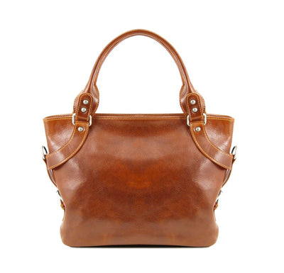 Ilenia Leather Shoulder Bag Leather Handbag TUSCANY LEATHER Honey