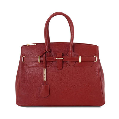 TL Classica Leather Handbag Leather Handbag TUSCANY LEATHER Red
