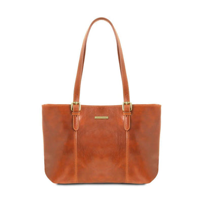 Annalisa Leather Handbag Leather Handbag TUSCANY LEATHER Honey
