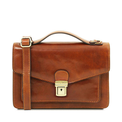 Eric Crossbody Leather Bag Leather Shoulder Bag TUSCANY LEATHER Honey