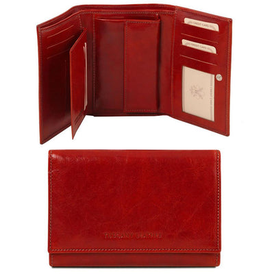 Exclusive Women's Leather Wallet Leather Wallet TUSCANY LEATHER Red