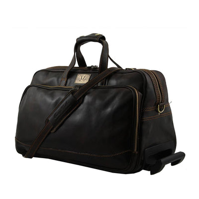 Bora Bora Small Leather Trolley Bag Leather Luggage Bag TUSCANY LEATHER