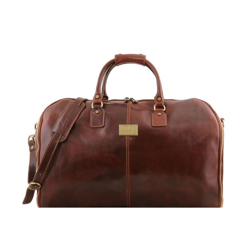 Antigua Garment Duffle Bag Leather Duffle Bag TUSCANY LEATHER Natural