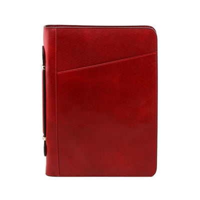 Costanzo Document Case Leather Document Case TUSCANY LEATHER Red