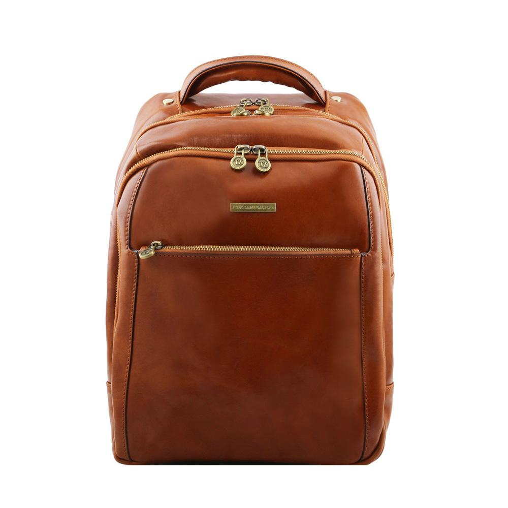 Phuket Laptop Backpack Leather Backpack TUSCANY LEATHER Honey