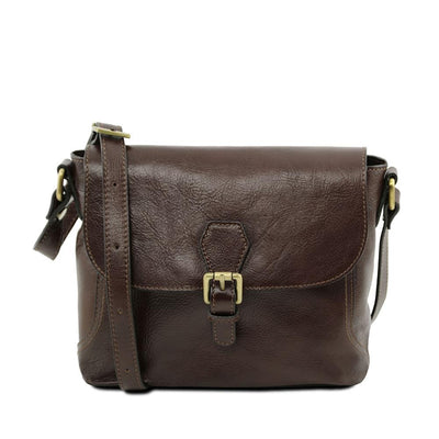 Jody Leather Shoulder Bag Leather Handbag TUSCANY LEATHER Dark Brown