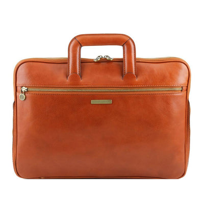 Caserta Document Case Leather Document Case TUSCANY LEATHER Honey