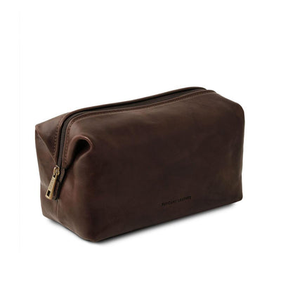 Smarty Leather Toiletry Bag - Large Leather Toiletry Bag TUSCANY LEATHER