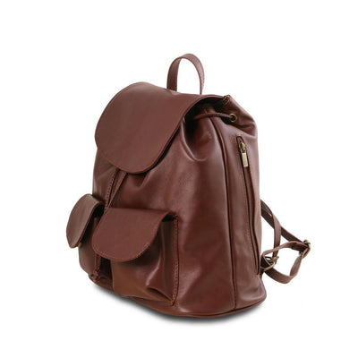 Seoul Leather Backpack Small/Large Leather Backpack TUSCANY LEATHER