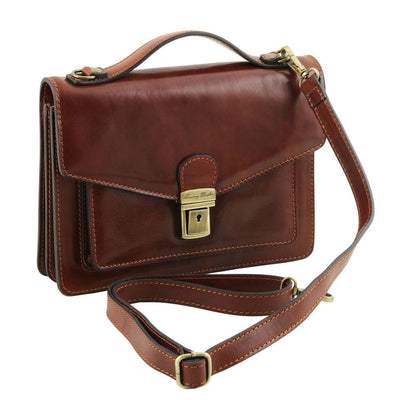 Eric Crossbody Leather Bag Leather Shoulder Bag TUSCANY LEATHER