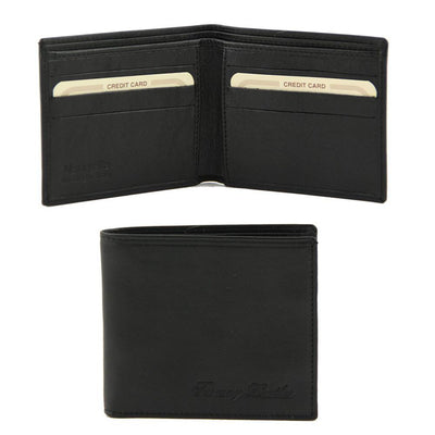 2 Fold Leather Wallet Leather wallet TUSCANY LEATHER Black