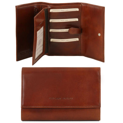 TL Classic Leather Wallet Leather Wallet TUSCANY LEATHER Brown