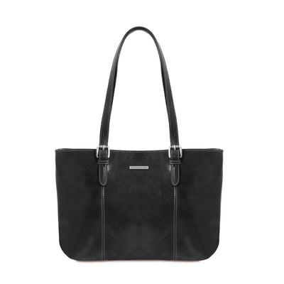 Annalisa Leather Handbag Leather Handbag TUSCANY LEATHER Black
