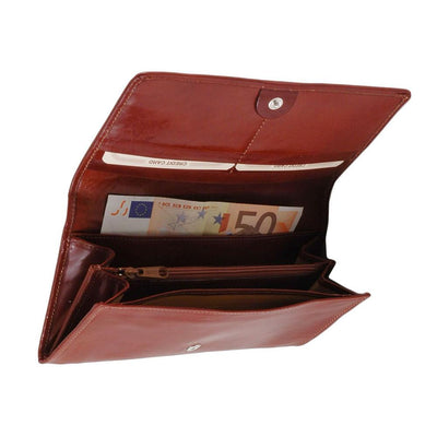 Women's Accordion Leather Wallet Leather Wallet TUSCANY LEATHER