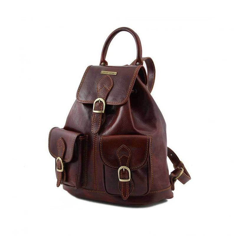 Tokyo Leather Backpack Leather Backpack TUSCANY LEATHER Brown