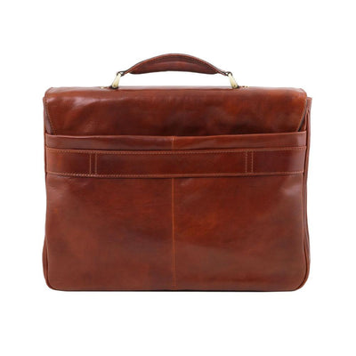 Allesandria Leather Briefcase Leather Laptop Bag TUSCANY LEATHER