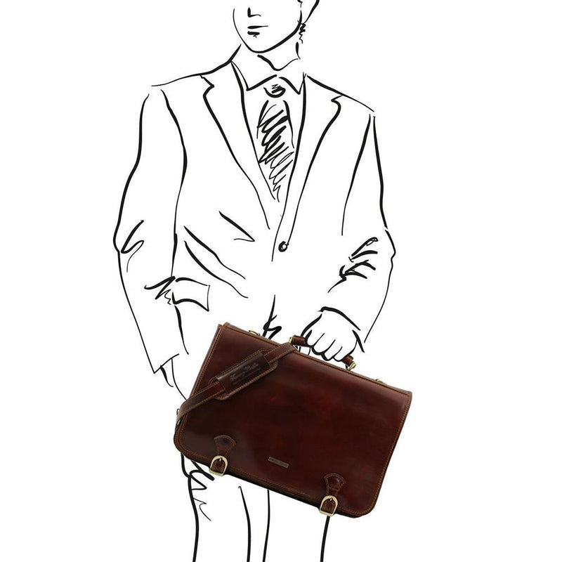 ANCONA LEATHER BRIEFCASE