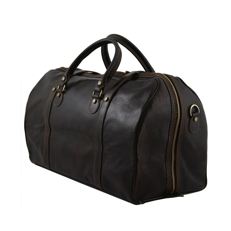 Berlin Leather Duffle Bag - Large Leather Duffle Bag TUSCANY LEATHER