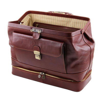 Giotto Leather Doctor Bag Leather Briefcase TUSCANY LEATHER
