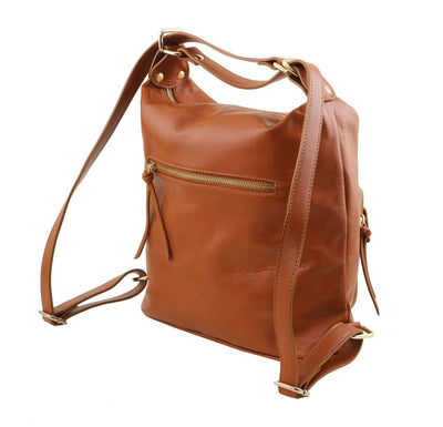 TL Convertible Bag Leather Backpack TUSCANY LEATHER
