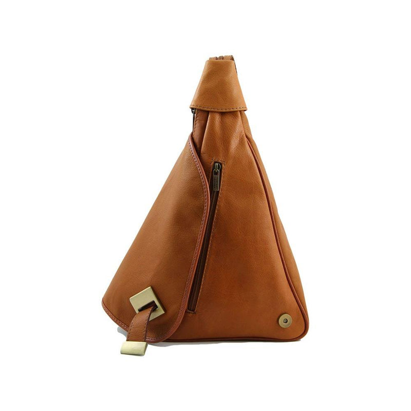 Hanoi Leather Backpack Leather Backpack TUSCANY LEATHER Cognac