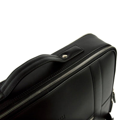 48hr Switch | All Leather Black Leather Backpack TEMPORARY FOREVERS