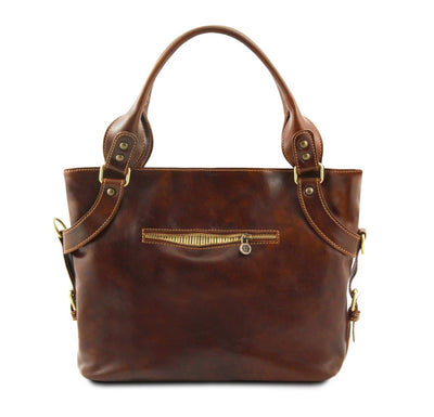 Ilenia Leather Shoulder Bag Leather Handbag TUSCANY LEATHER