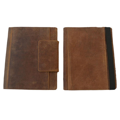 iPAD Genuine Leather Case Leather iPad Case EBB & FLOW 9.7 Inch Rustic Brown