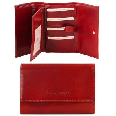 TL Classic Leather Wallet Leather Wallet TUSCANY LEATHER Red