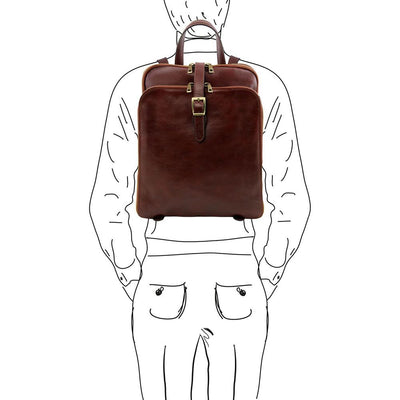 Taipei Leather Backpack Leather Backpack TUSCANY LEATHER