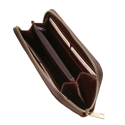 Exclusive Accordion Leather Wallet Leather Wallet TUSCANY LEATHER