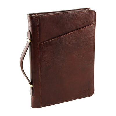Claudio Document Case Leather Document Case TUSCANY LEATHER