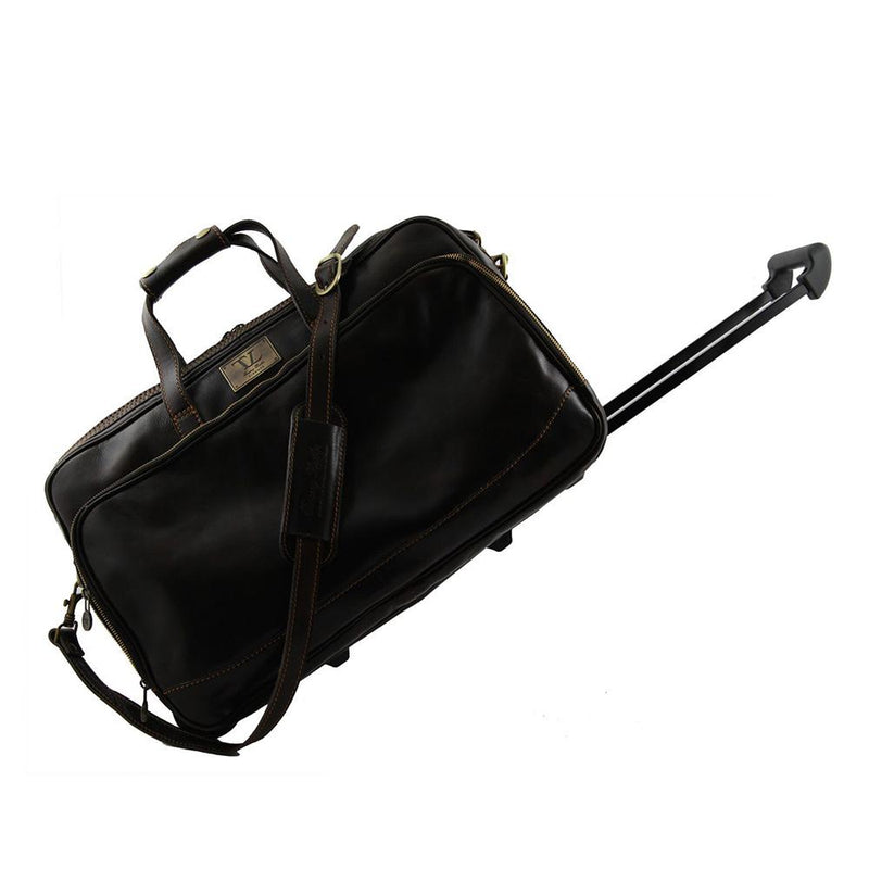 BORA BORA SMALL LEATHER TROLLEY BAG