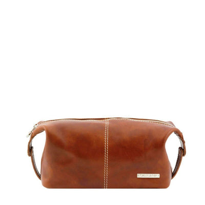Roxy Toiletry Bag Leather Toiletry Bag TUSCANY LEATHER Honey