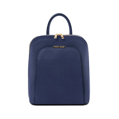 TL Saffiano Backpack Dark Blue