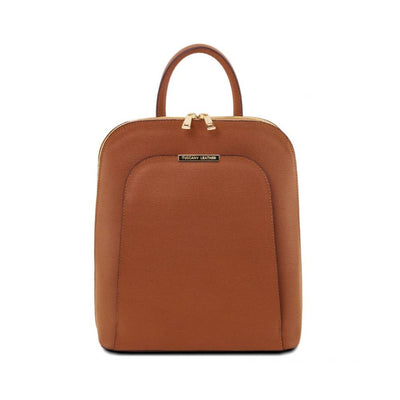 TL Saffiano Backpack Cognac